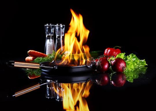 тиган за пържене на зеленчуци