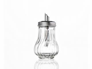Захарник стъкло с дозатор, цена 2,36лв.