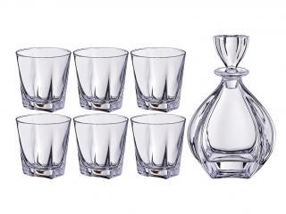 Комплект гараф + 6 чаши уиски, цена 108,00лв.