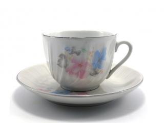 Чаша за чай с чиния, декор 2758, цена 2,48лв.