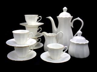 Сервиз за кафе 15 части Костен порцелан, цена 144,20лв.