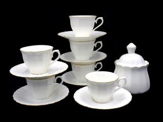 Сервиз за кафе кафе 13 части костен порцелан, цена 95,70лв.