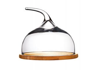 Дървена дъска със стъклен капак за сервиране, цена 88,70лв.