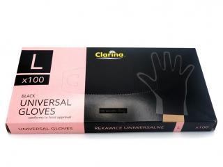 Домакински ръкавици черни 100бр размер L, цена 14,40лв.