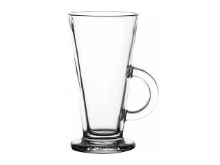 Стъклена чаша топли напитки 250мл, цена 2,58лв.